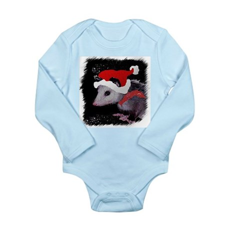 Possum Santa Long Sleeve Infant Bodysuit