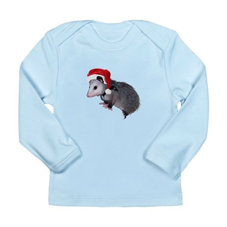 Santa Possum Long Sleeve Infant T-Shirt
