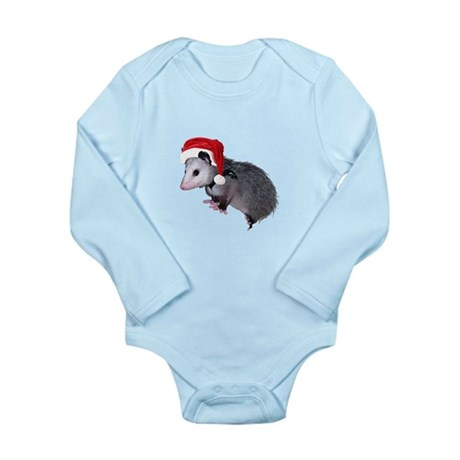 Santa Possum Long Sleeve Infant Bodysuit