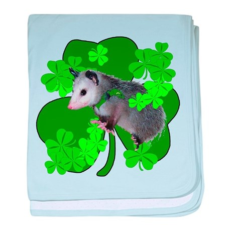 Lucky Irish Possum baby blanket