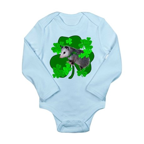 Lucky Irish Possum Long Sleeve Infant Bodysuit