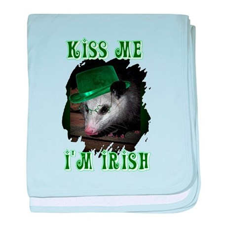 Kiss Me Possum baby blanket