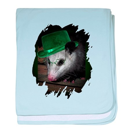 St Patrick's Day Possum baby blanket