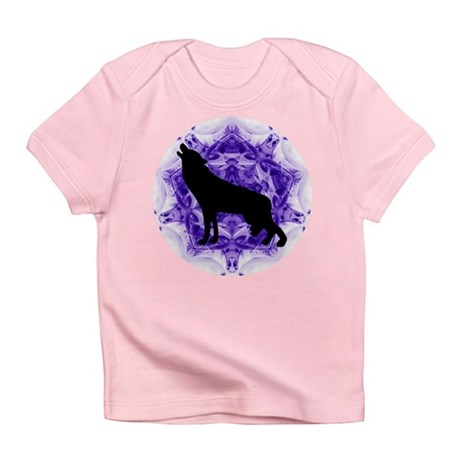 Purple Howling Wolf Infant T-Shirt