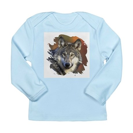 Gray Wolf Long Sleeve Infant T-Shirt
