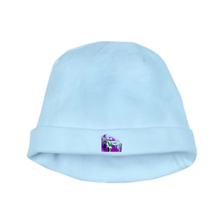 Purple Angel Art baby hat