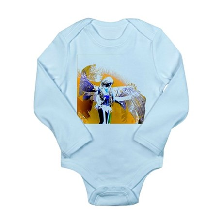 Golden Angel Art Long Sleeve Infant Bodysuit