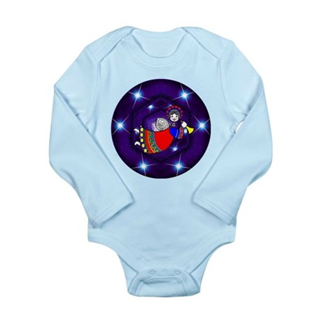 Christmas Angel Long Sleeve Infant Bodysuit
