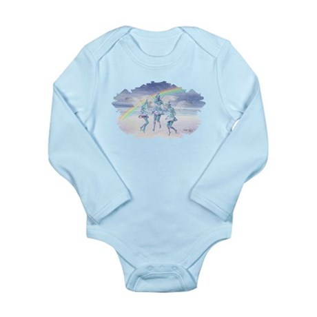 Angels and Rainbows Long Sleeve Infant Bodysuit