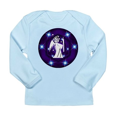 Starry Night Angel Long Sleeve Infant T-Shirt