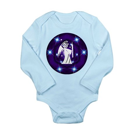 Starry Night Angel Long Sleeve Infant Bodysuit