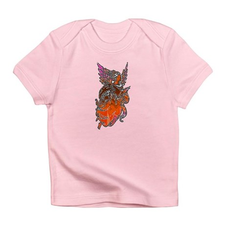 Pretty Orange Angel Infant T-Shirt