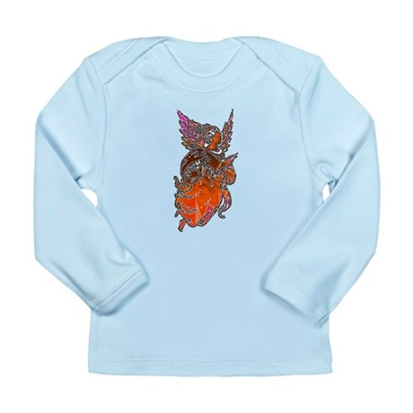 Pretty Orange Angel Long Sleeve Infant T-Shirt