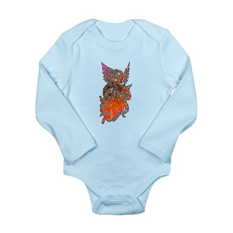 Pretty Orange Angel Long Sleeve Infant Bodysuit