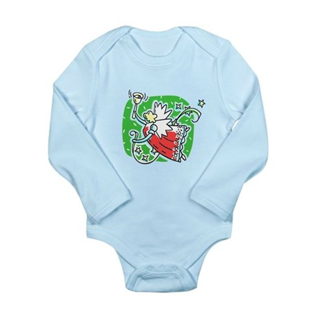 Whymsical Angel Long Sleeve Infant Bodysuit