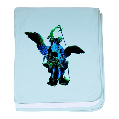 Powerful Angel - Blue baby blanket