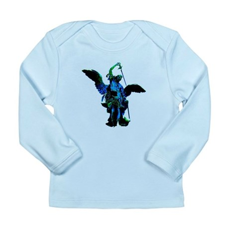 Powerful Angel - Blue Long Sleeve Infant T-Shirt