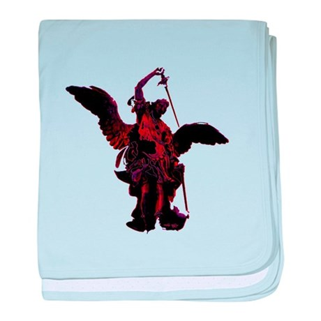 Powerful Angel - Red baby blanket