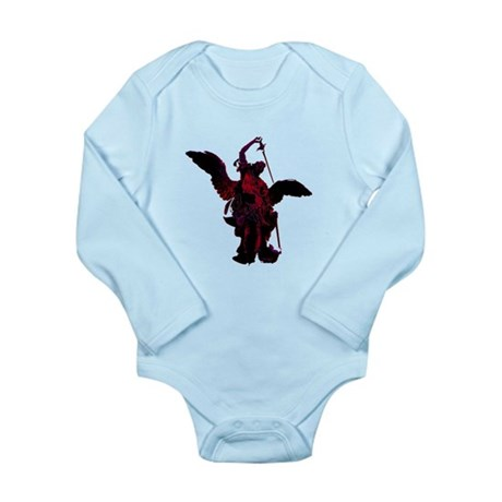 Powerful Angel - Red Long Sleeve Infant Bodysuit