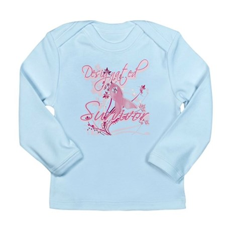 Pink Ribbon Survivor Long Sleeve Infant T-Shirt