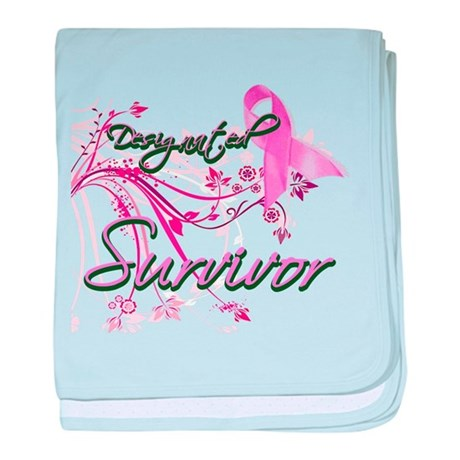 Pink Ribbon Survivor baby blanket