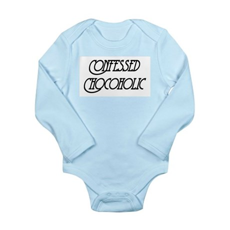 Confessed Chocoholic Long Sleeve Infant Bodysuit