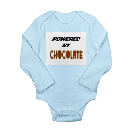 Powered by Chocolate Long Sleeve Infant Bodysuit