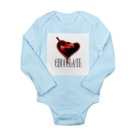 CHOCOLATE Long Sleeve Infant Bodysuit