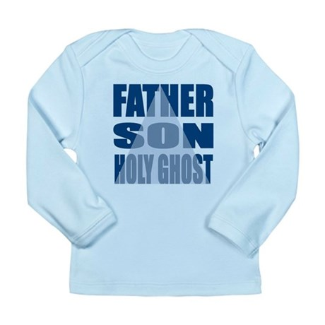 Dark Blue Trinity Long Sleeve Infant T-Shirt
