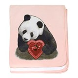 """Panda with a heart"" baby blanket"