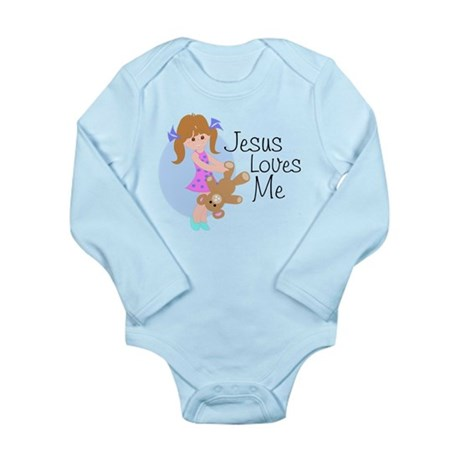 Jesus Loves Me Long Sleeve Infant Bodysuit