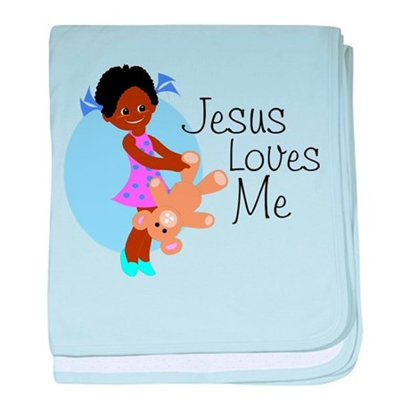 Jesus Loves Me baby blanket