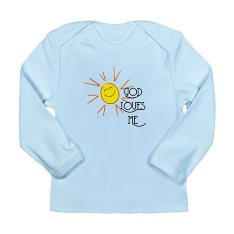 God Loves Me Long Sleeve Infant T-Shirt
