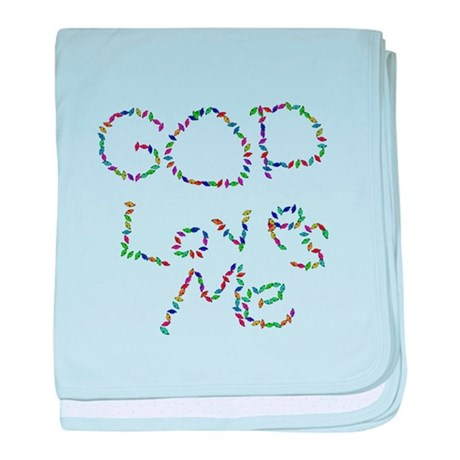 God Loves Me baby blanket