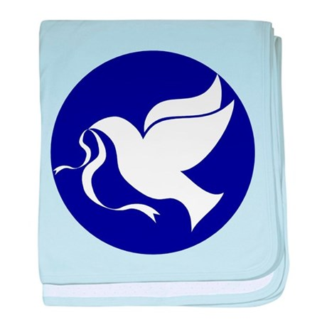 Peace Dove baby blanket