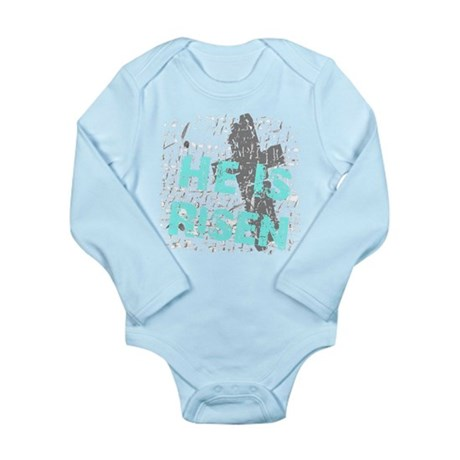 He is Risen Long Sleeve Infant Bodysuit