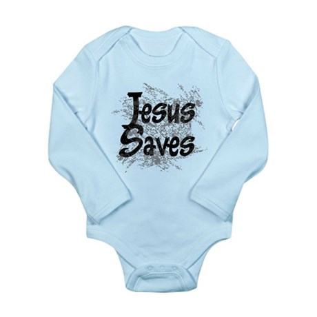 Jesus Saves Long Sleeve Infant Bodysuit