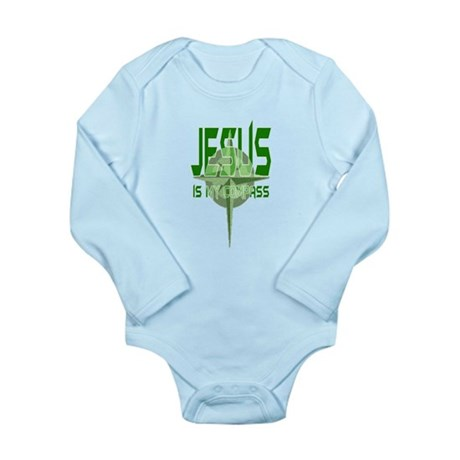Jesus is My Compass Long Sleeve Infant Bodysuit
