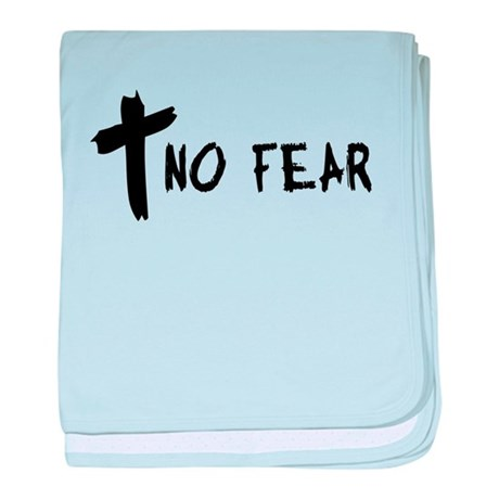 No Fear Cross baby blanket