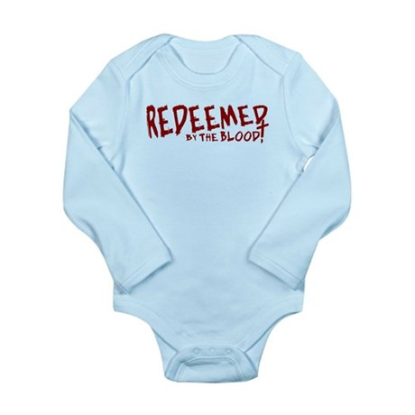 Redeemed by the Blood Long Sleeve Infant Bodysuit