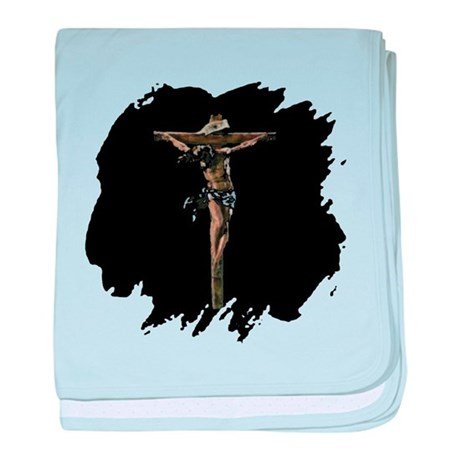 Jesus on the Cross baby blanket