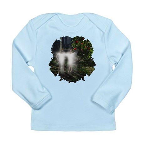 Adam and Eve Before Long Sleeve Infant T-Shirt