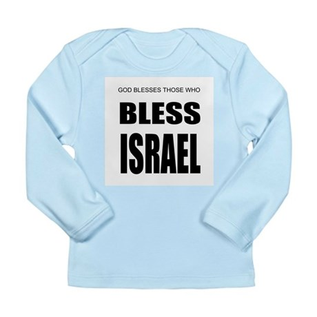 Bless Israel Long Sleeve Infant T-Shirt