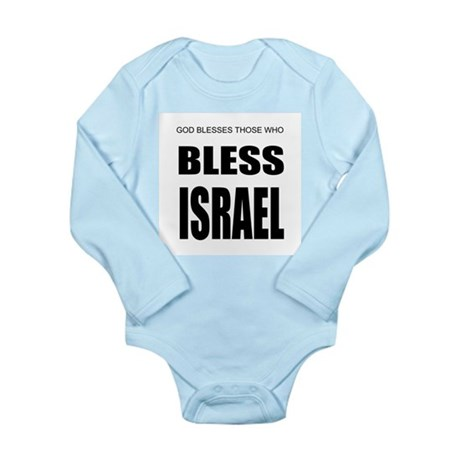 Bless Israel Long Sleeve Infant Bodysuit