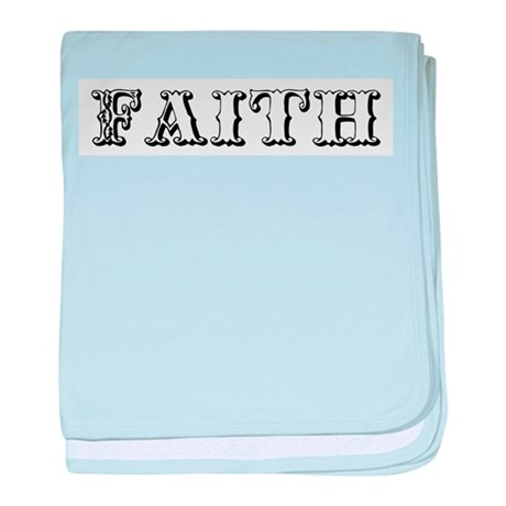 Faith baby blanket