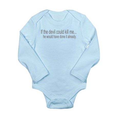 Devil Can't Kill Me Long Sleeve Infant Bodysuit