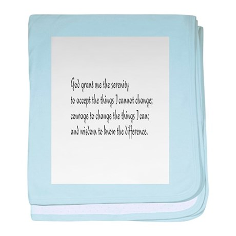 Serenity Prayer baby blanket