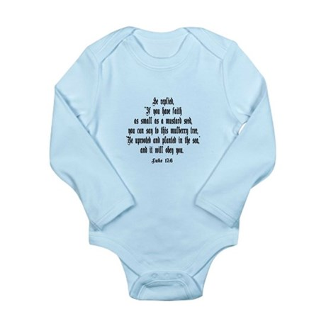 Luke 17:6 NIV Long Sleeve Infant Bodysuit