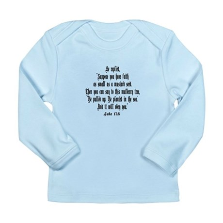 Luke 17:6 NIRV Long Sleeve Infant T-Shirt