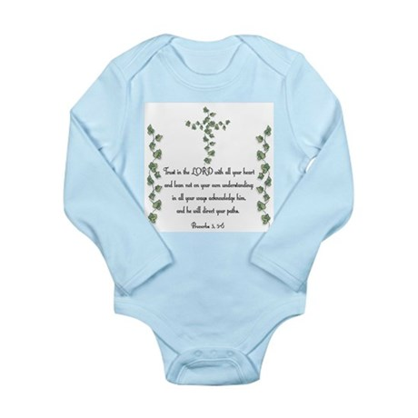 Proverbs Long Sleeve Infant Bodysuit